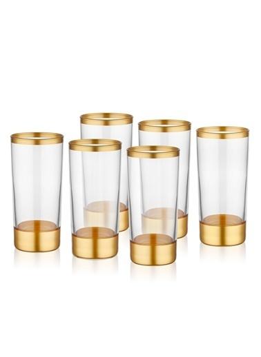 The Mia Glam Rakı Kadehi 6 Lı Set - Gold Altın